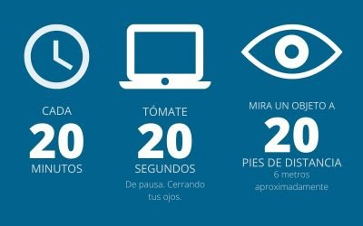 ¿Qué es la regla 20 20 20 para cuidar tu vista?